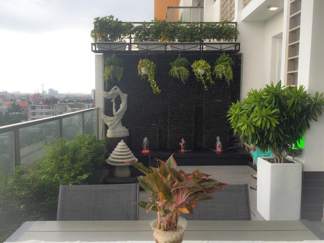 Sân vườn Bán căn hộ sân vườn The Vista An Phú 2PN, tháp T3, diện tích 143m2, đầy đủ nội thất, hướng Đông Nam