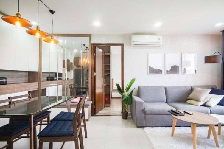 Phòng khách Happy Residence, Quận 7 Căn hộ Happy Residence đầy đủ nội thất tiện nghi, view thành phố.