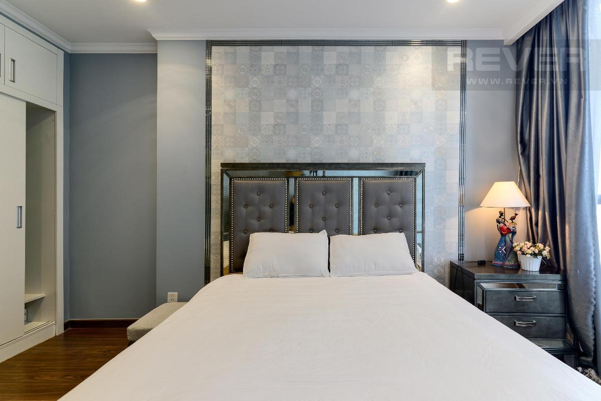 Phòng ngủ Cho thuê căn hộ Vinhomes Central Park 1PN, tháp Landmark 5, đầy đủ nội thất, view Pearl Plaza