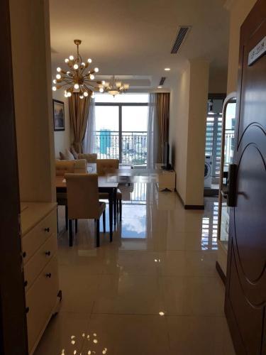Phòng khách Vinhomes Central Park Căn hộ Vinhomes Central Park tầng cao, đầy đủ nội thất, view nội khu.