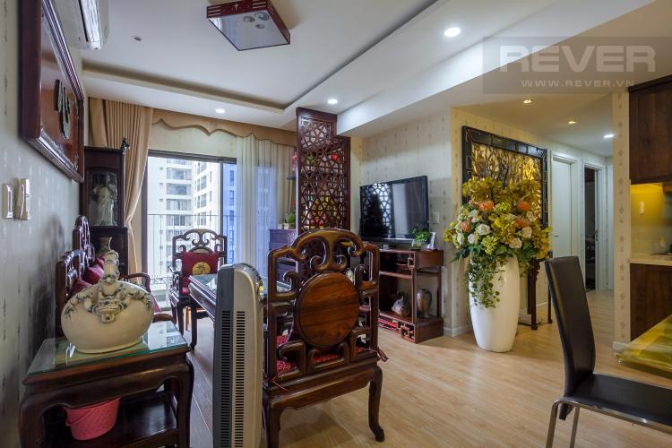 Phòng Khách Căn hộ Masteri Thảo Điền 3 phòng ngủ tầng trung T5 view nội khu