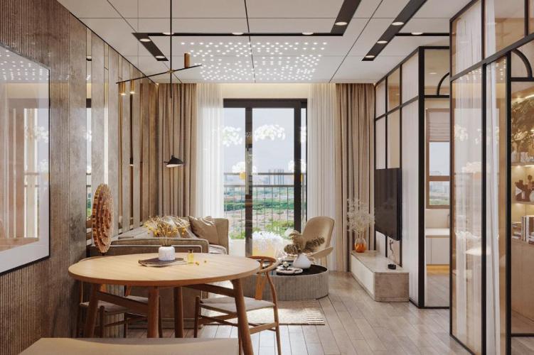 Căn hộ Saigon South Residence tầng thấp, nội thất đầy đủ hiện đại.