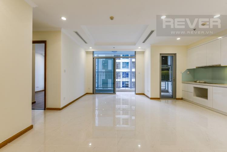 Phòng khách Căn hộ Vinhomes Central Park 3 phòng ngủ tầng cao L4 view sông