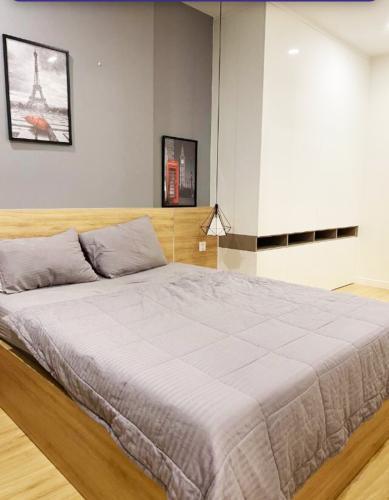 phòng ngủ Masteri Millennium Căn hộ Masteri Millennium đầy đủ nội thất, view sông và thành phố.