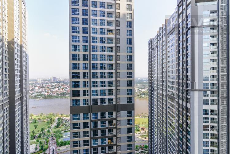View Căn hộ Vinhomes Central Park 1 phòng ngủ tầng cao P7 view sông