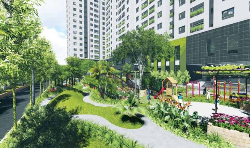Công viên căn hộ Palm Garden Căn hộ Palm Garden thô thuận tiện thiết kế, view thành phố.