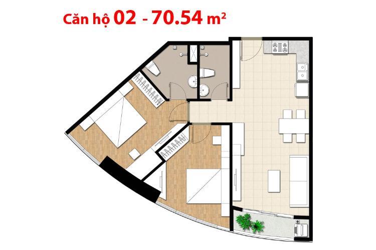 Căn hộ 2 phòng ngủ Căn hộ Tulip 2 phòng ngủ tầng cao hướng Đông Bắc view sông