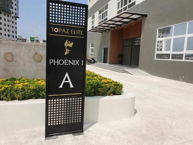 lối vào tháp Phonix 1 dự án Topaz Elite quận 8 Căn hộ tầng cao Topaz Elite ban công hướng Đông Nam, bàn giao không nội thất