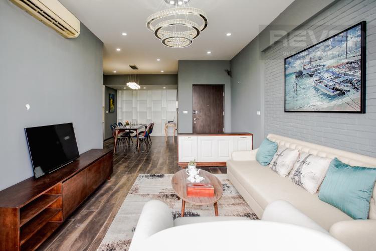 Phòng Khách Cho thuê căn hộ Grand View 3 phòng ngủ, đầy đủ tiện ích, view sông