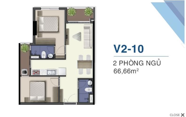 Bán căn hộ view sông Sài Gòn tại Q7 Saigon Riverside, nội thất cơ bản.