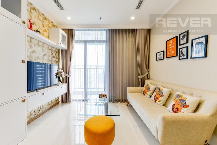 Phòng khách Căn hộ Vinhomes Central Park 2 phòng ngủ tầng cao L3 đầy đủ nội thất