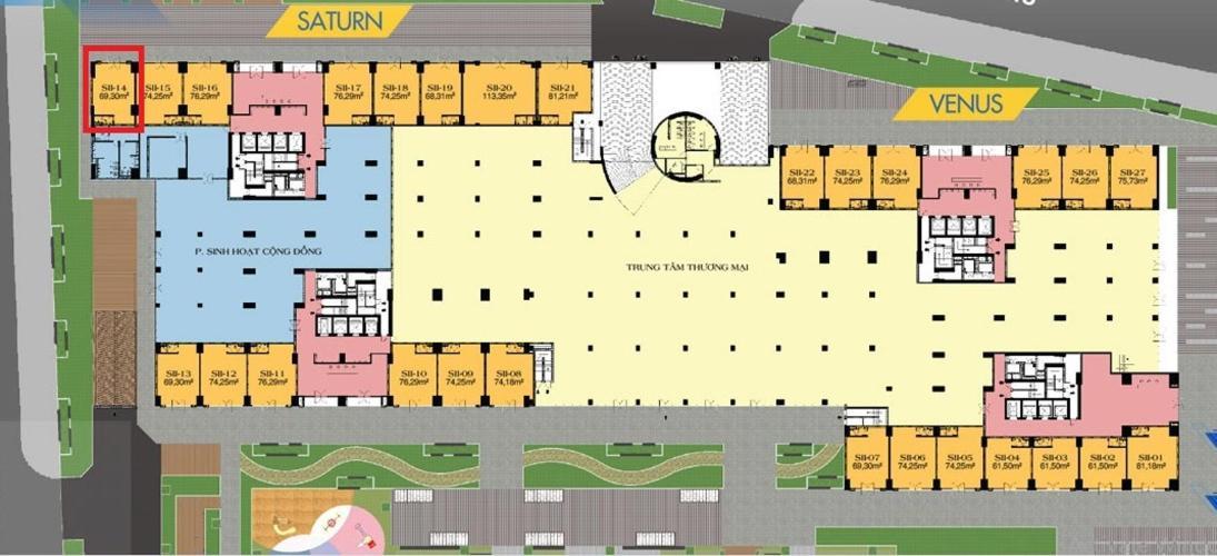 Shop-house Q7 Saigon Riverside cửa hướng Bắc, ban công hướng Tây.