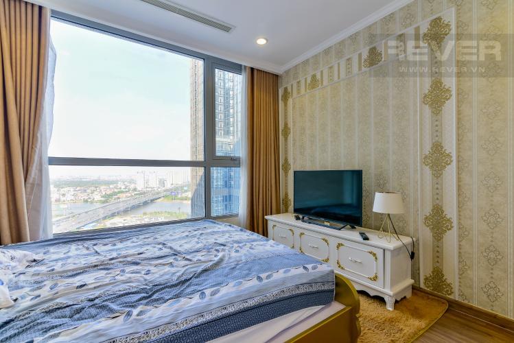 Phòng Ngủ 1 Cho thuê căn hộ Vinhomes Central Park 83.8m2, view sông thoáng mát, nội thất hạng sang