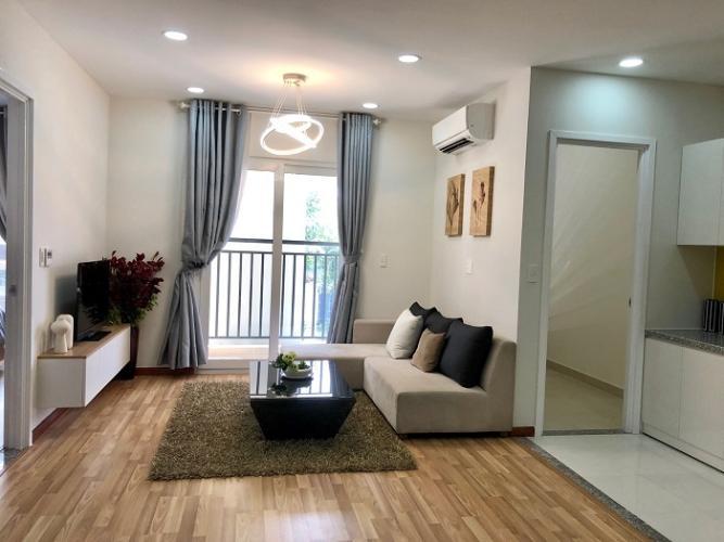 Phòng khách căn hộ City Gate 3 Căn hộ City Gate 3 nội thất cơ bản 1 phòng ngủ view thành phố  .