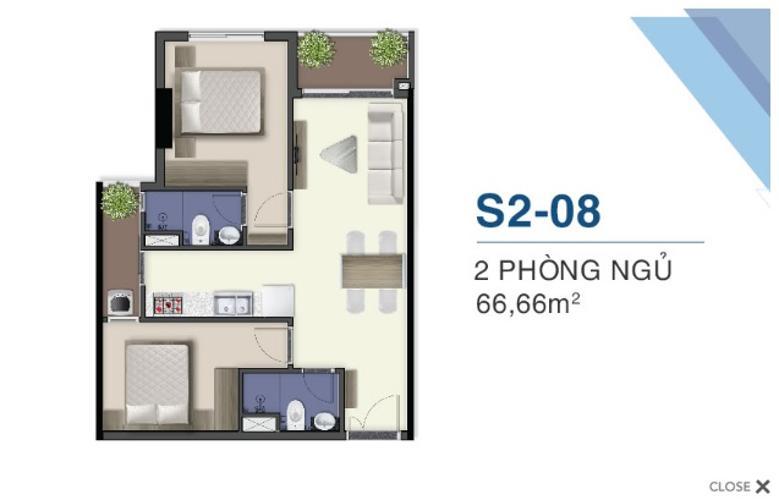 Mặt bằng nội thất Q7 Sài Gòn Riverside Căn hộ Q7 Saigon Riverside tầng trung, nội thất cơ bản.