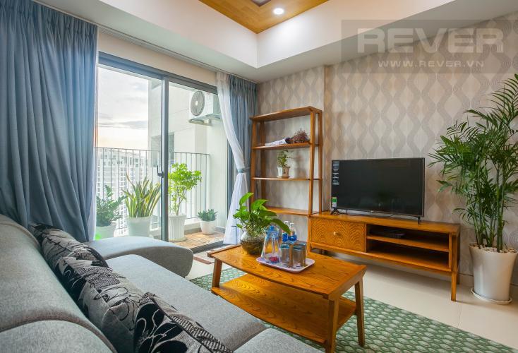 Phòng Khách Cho thuê căn hộ Masteri Thảo Điền tầng cao, 2PN, đầy đủ nội thất