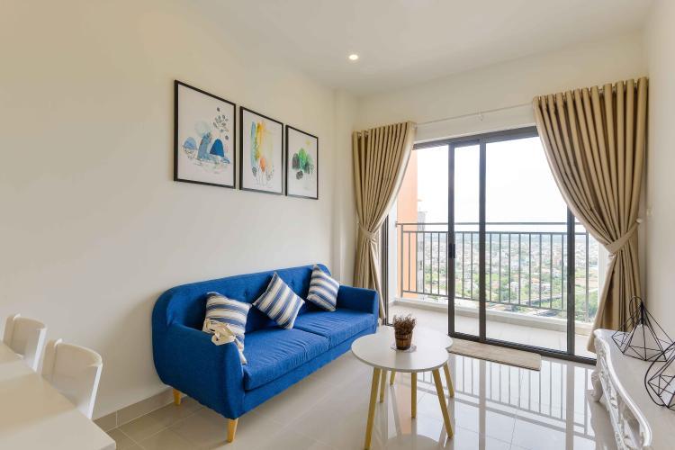 Phòng Khách Bán căn hộ The Sun Avenue 2PN, tầng cao, đầy đủ nội thất, view sông và hướng Đông Nam đón gió