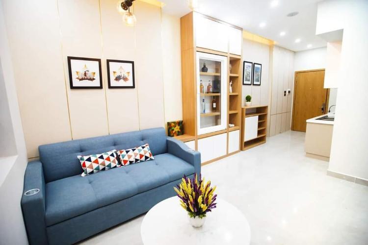 Nhà mẫu Saigon Intela, Bình Chánh Căn hộ tầng trung Saigon Intela ban công đón view thành phố.