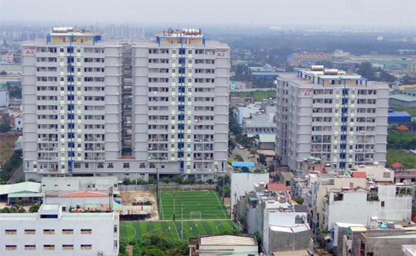 Chung cư Lê Thành, Bình Tân Căn hộ chung cư Lê Thành tầng trung, hướng Đông Nam.