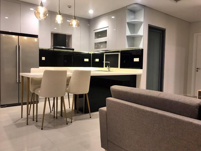 Phòng ăn và bếp căn hộ DIAMOND ISLAND - ĐẢO KIM CƯƠNG Cho thuê căn hộ Diamond Island - Đảo Kim Cương 2PN, tầng thấp, đầy đủ nội thất, view hồ bơi