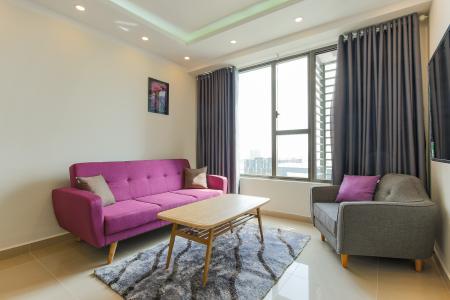 Căn hộ The Tresor 2 phòng ngủ tầng cao TS1 nội thất đầy đủ