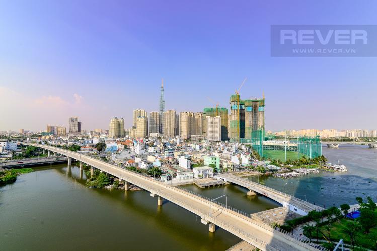 View Cho thuê căn hộ Vinhomes Golden River tầng trung, 2PN 2WC, đầy đủ nội thất, view Landmark 81
