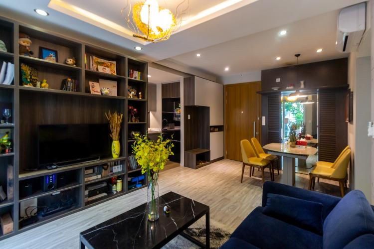 Phòng khách căn hộ The Krista Căn hộ The Krista tầng thấp đầy đủ nội thất, ban công thoáng mát.