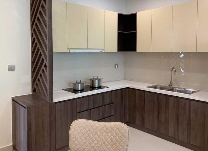 Bếp căn hộ mẫu Q7 Boulevard Bán căn hộ Q7 Boulevard 2 phòng ngủ tầng cao diện tích 69m2, căn hộ chưa bàn giao