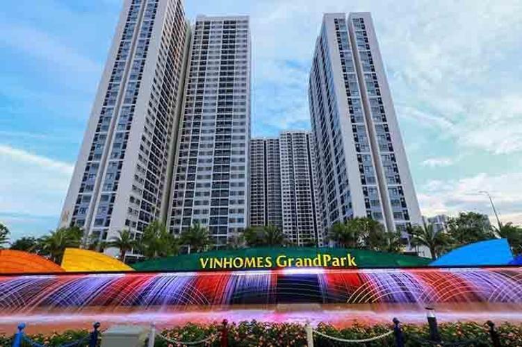 Toàn cảnh Vinhomes Grand Park Quận 9 Căn hộ Vinhomes Grand Park 2 phòng ngủ, view sông thoáng mát.
