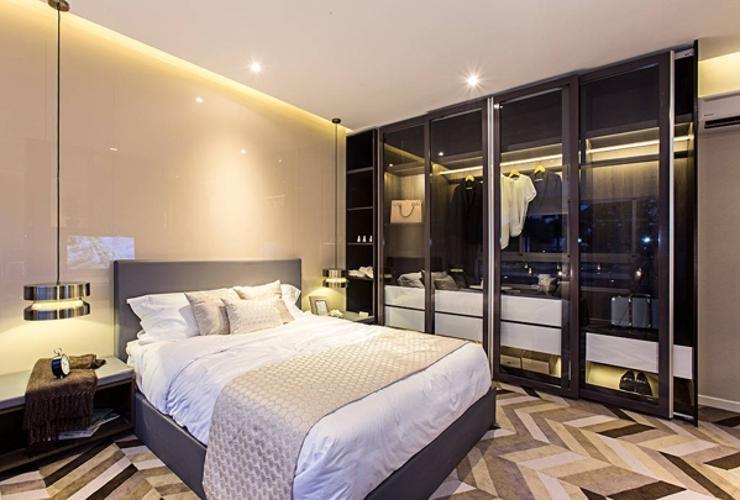 nhà mẫu phòng ngủ Bán căn hộ Lavida Plus tầng cao, ban công thoáng mát, tiện ích đầy đủ.