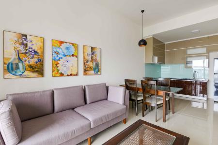 Cho thuê căn hộ The Sun Avenue tầng trung, 2 PN 2WC, đầy đủ nội thất, hướng Đông Nam mát mẻ