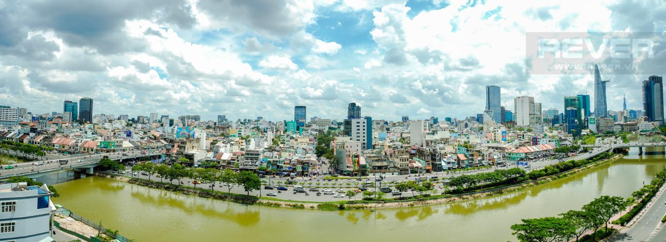 View Cho thuê căn hộ Masteri Millennium 2PN, block A, đầy đủ nội thất, view sông, Bitexco và Landmark 81