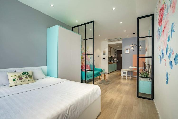 Phòng ngủ căn hộ The Tresor Căn hộ tầng thấp The Tresor nội thất sang trọng hiện đại.