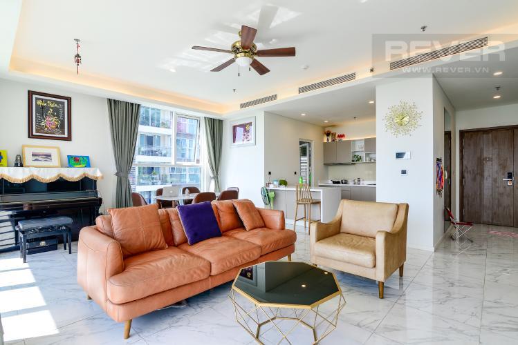 Phòng Khách Bán hoặc cho thuê căn hộ Sarica Sala Đại Quang Minh 3PN, đầy đủ nội thất, view công viên và hồ bơi thoáng mát