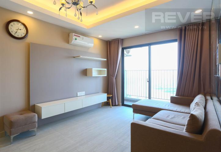 Phòng Khách Căn hộ Masteri Thảo Điền tầng cao 3PN nội thất đầy đủ, view sông