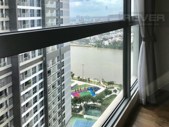 View Phòng Ngủ Bán căn hộ Vinhomes Central Park 2PN, tháp Park 1, nội thất cơ bản, view công viên và mé sông