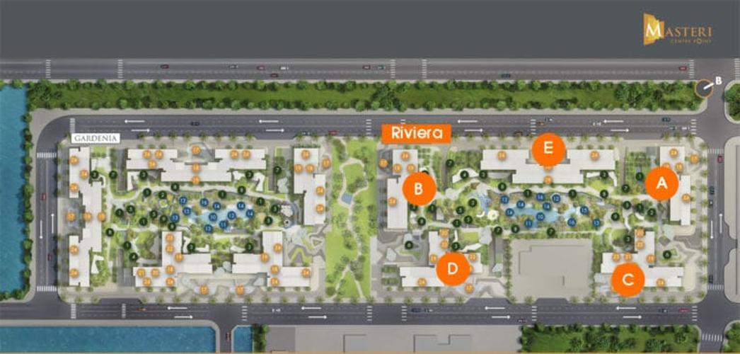 layout dự án Masteri Centre point quận 9 Căn hộ Masteri Centre Point tầng cao, hướng Đông Bắc.