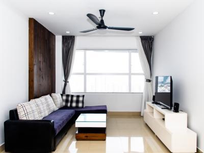 Cho thuê căn hộ Sunrise City 1PN, tầng cao, tháp X1 Khu North, đầy đủ nội thất