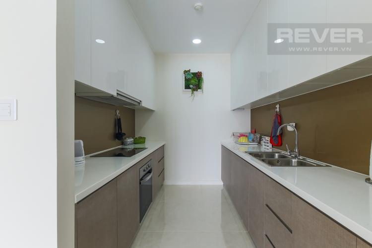Phòng Bếp Cho thuê căn hộ Masteri Millennium Quận 4 tầng cao, 2PN, đầy đủ nội thất