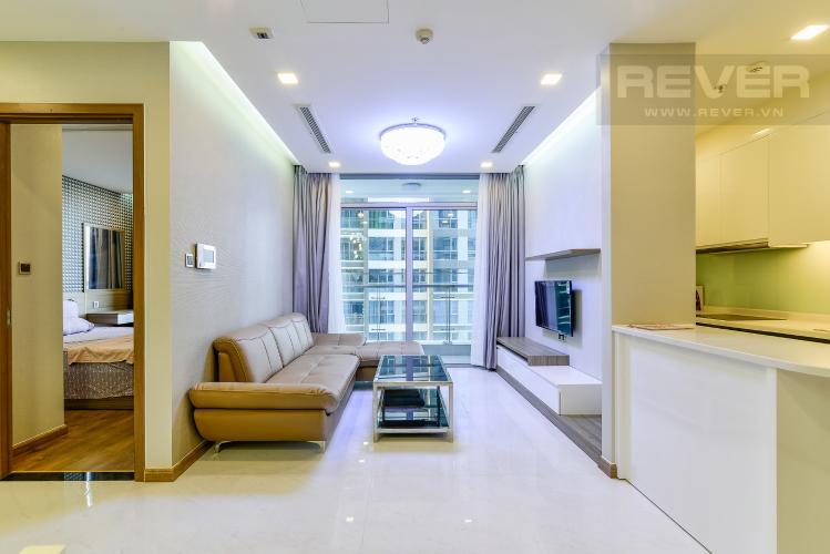 Phòng Khách Căn hộ Vinhomes Central Park 2 phòng ngủ tầng trung P3 nội thất đầy đủ