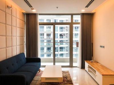 Cho thuê căn hộ Vinhomes Central Park 2PN, tháp Park 1, đầy đủ nội thất, view công viên và sông thoáng mát