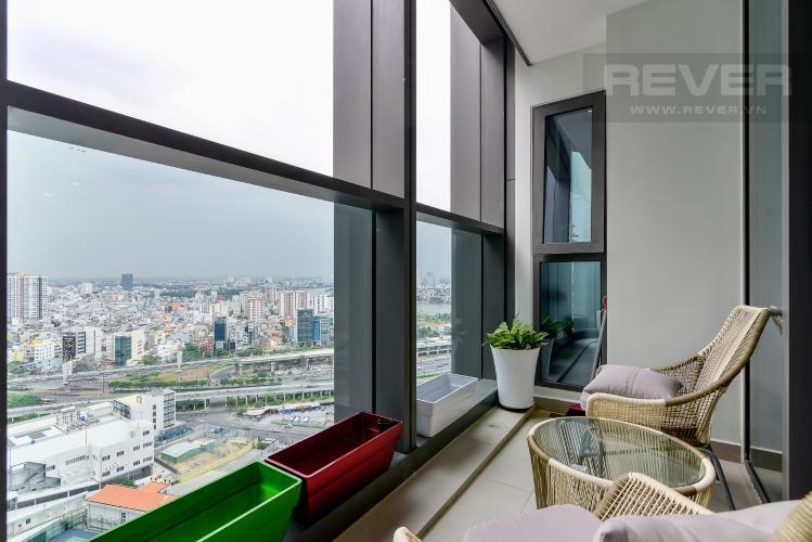 Balcony Cho thuê căn hộ Vinhomes Central Park tầng cao, 2PN đầy đủ nội thất tiện nghi, sang trọng