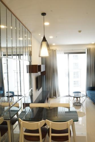 Phòng khách căn hộ Saigon Royal Căn hộ Saigon Royal nội thất đầy đủ tiện nghi, view nội khu.