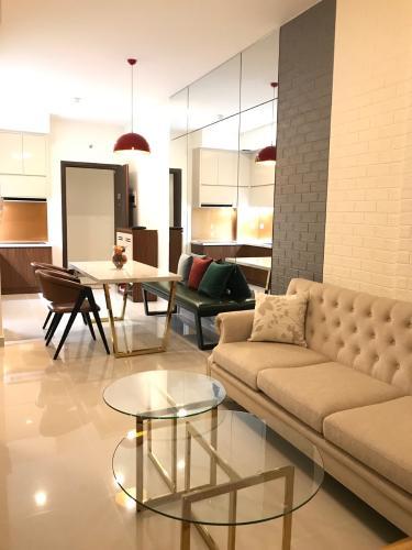 Phong khách căn hộ The Sun Avenue Cho thuê căn hộ The Sun Avenue tầng trung, 2 phòng ngủ, diện tích 56m2, đầy đủ nội thất