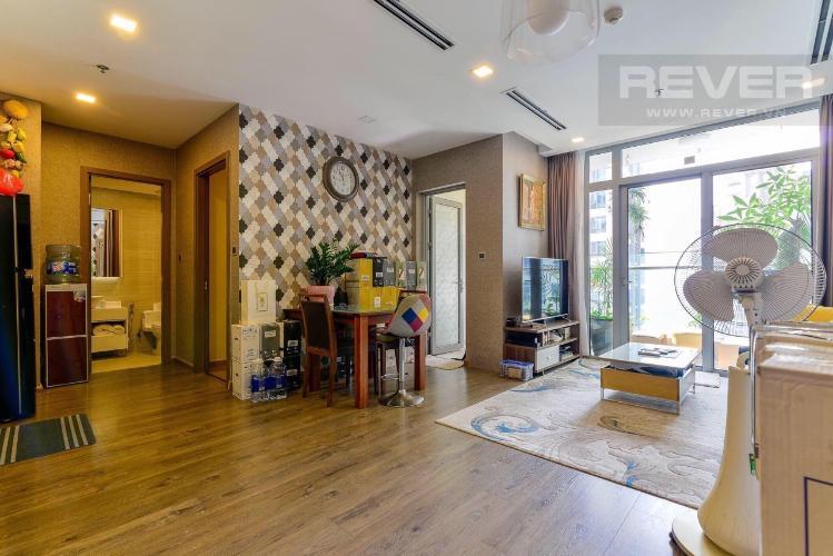 Cho thuê căn hộ Vinhomes Central Park 2PN, tầng 27, diện tích 80m2, ban công Tây Nam