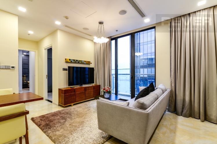 Phòng Khách Căn hộ Vinhomes Golden River 2 phòng ngủ tầng cao A3 view sông