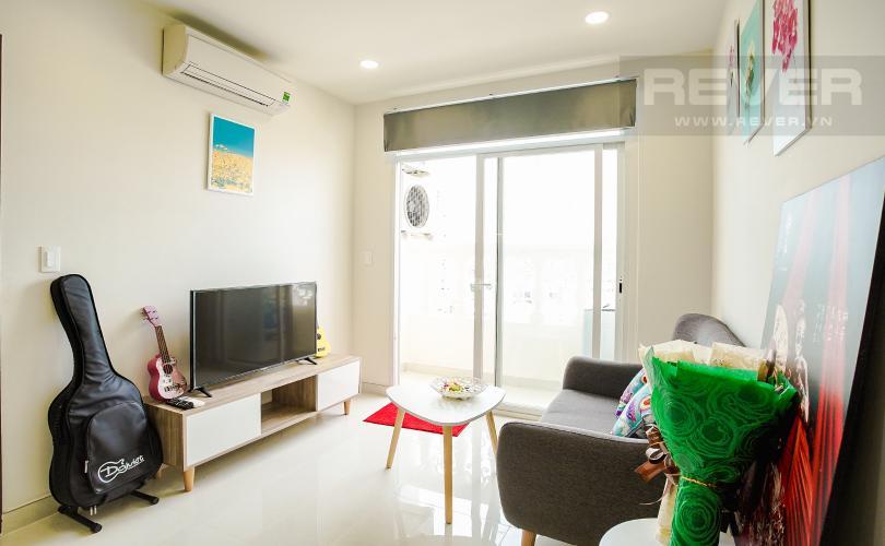 Phòng Khách Bán căn hộ Grand Riverside 1PN, đầy đủ nội thất, view sông thoáng mát