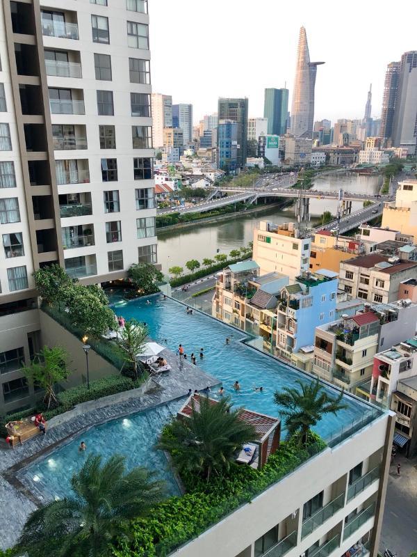 58dab39af1d617884ec7 Bán căn hộ Masteri Millennium 2PN, block B, đầy đủ nội thất, view hồ bơi và Bitexco