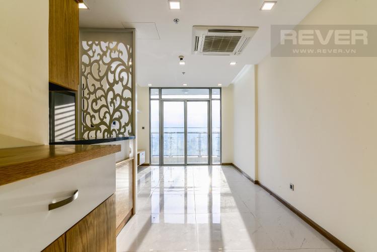 Phòng Khách Officetel Vinhomes Central Park 2 phòng ngủ tầng cao P7 đầy đủ tiện nghi