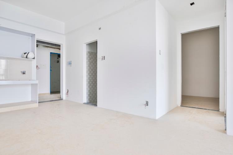 Phòng Khách Căn hộ IDICO Tân Phú 2 phòng ngủ, tầng cao tháp C, nhà trống, mới 100%